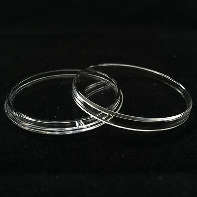 100 AirTite Coin Holder Capsules with White Ring for Morgan Silver Dollars I38mm