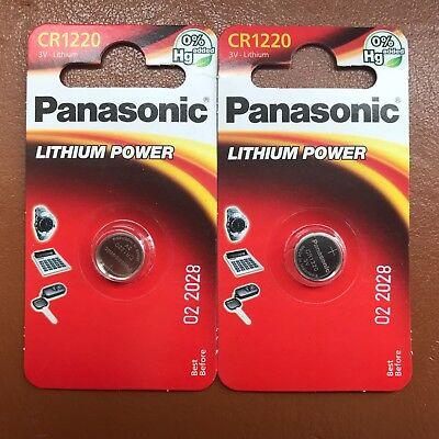 NEW Panasonic CR1220 ECR1220 DL1220 3v Lithium Battery Coin Cell LONGEST EXPIRY 2
