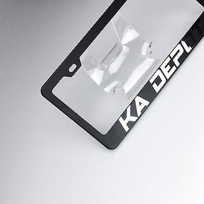 Laser Engraved Lamborghini Logo Mirror Matte Black License Frame Stainless Steel