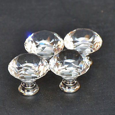 10 zinc alloy clear glass crystal sparkle cabinet drawer door pulls knobs handle 3 • CAD $14.60