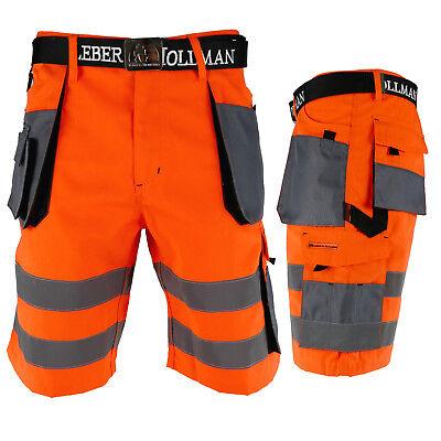 Arbeitshose Kurze Hose Kurz Bermuda Shorts Orange Grau Gr. S - XXXL