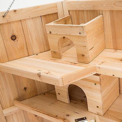 XXL Hamsterkäfig Kleintierkäfig Mäusekäfig Nagerstall Rattenkäfig Holz Stall