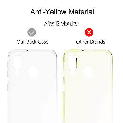 Samsung Galaxy A40 A50 Clear Gel Case Tempered Glass Screen Protector TPU Cover 5