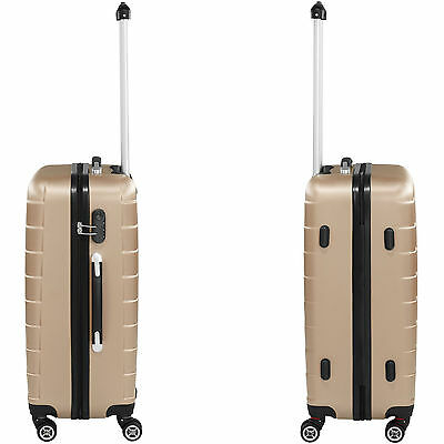 Set 3 piezas maletas ABS juego de maletas de viaje trolley maleta dura champán 5