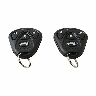 3-Channel Keyless Entry Car Alarm with Remotes and Failsafe Starter Kill-Set 2
