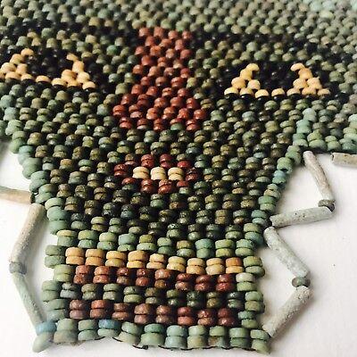 Ancient  Egyptian Multi-Coloured Faience Beads Mummy Mask Of Osiris 4