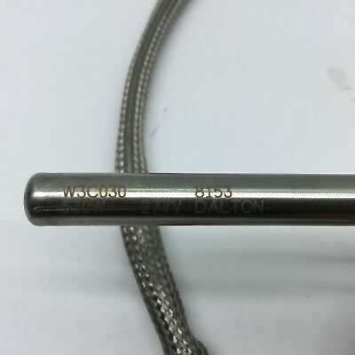 "Dalton W3C030 Cartridge Heater, 530W, 277V, Diameter: 3/8"", Length: 3"", 28"" Lead 2"