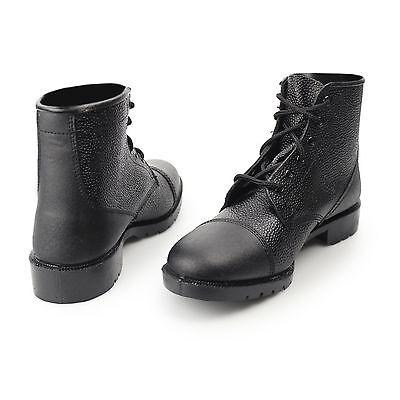0bd8d80dea2 GRAFTERS MENS LADIES NON-SAFETY Grain Leather Lace Up Cadet Work Boots Black