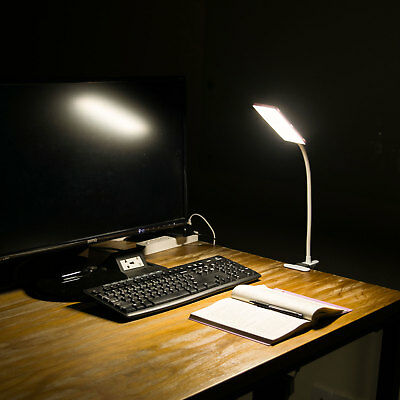5W USB Flexible Clip-On Desk Bedside Reading Study Book Lamp LED Light Dimmable 7