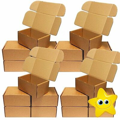 Brown Die Cut Folding Lid Postal Cardboard Boxes Small Mailing Shipping Cartons 3