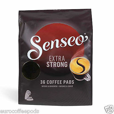 Senseo Douwe Egberts Extra Strong/Extra Dark Roast Pads 5 Pack of 36 Pods Coffee 12
