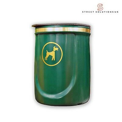 Doggy Bin - 40 Litre Wall or Post Mountable Plastic Dog Waste Bin RED or GREEN 3