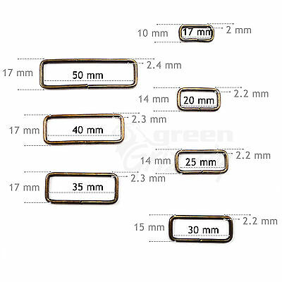 Metal wire rectangle ring Belt Bag Loops for 17 20 25 40 35 40 50 mm strapping 2