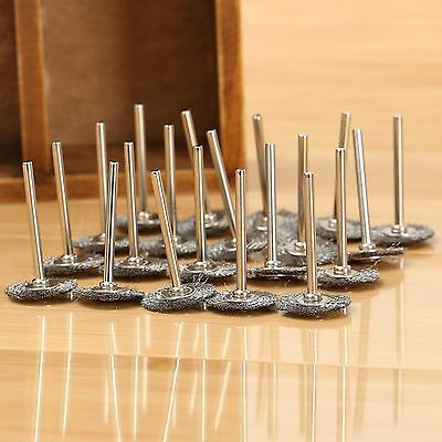 20Pcs Rotary Tools steel Wire Wheels Brushes For Die Grinder Dremael Accessories 2