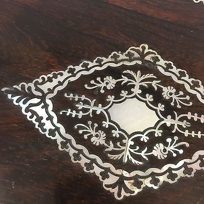 Fine Quality Antique Victorian Rosewood Mother Of Pearl Writing Slope Damage 3