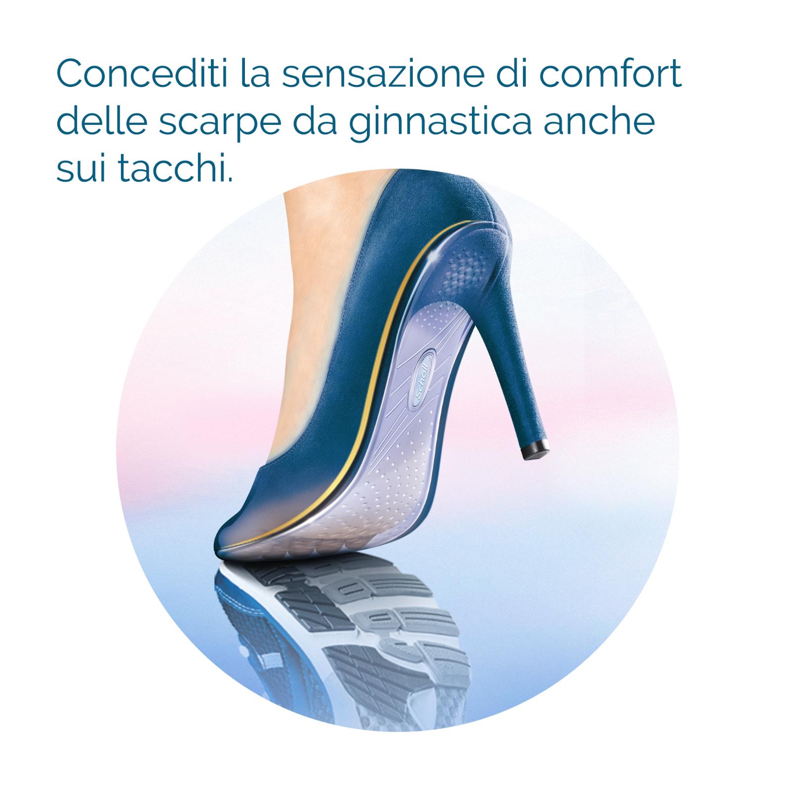 2 Solette TACCHI ALTI Donna Invisibili Pedicure SCHOLL GEL ACTIV Scarpe 3