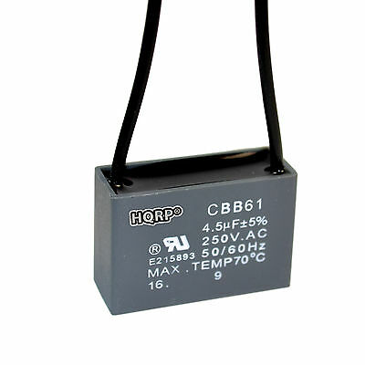2-PACK CAPACITOR FOR Harbor Breeze Ceiling Fan 4.5uf 2-Wire CBB61 ...