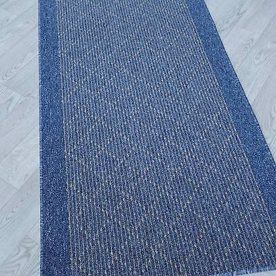 Modern und stabil ! Teppich Läufer TIM KRETA blau 80 cm breit ...