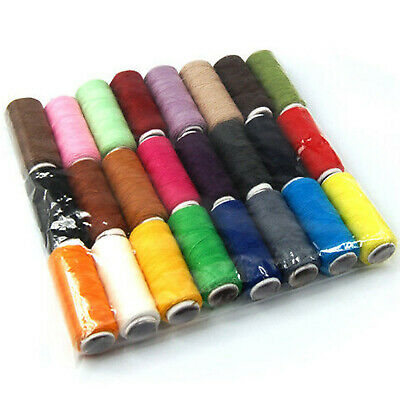 24 Colour Spools Finest Quality Sewing All Purpose 100% Pure Cotton Thread Reel 2