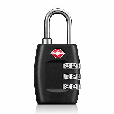 4x TSA Approved Luggage Lock Travel 3 Digit Combination Suitcase Padlock Reset 2