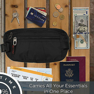 Unisex Money Belt for Men&Women, Undercover Secure Hidden Travel Passport Holder 10