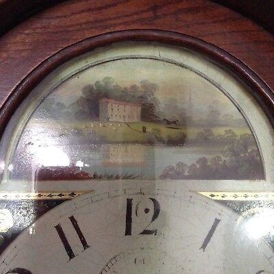 Antique Oak Grandfather Clock 8