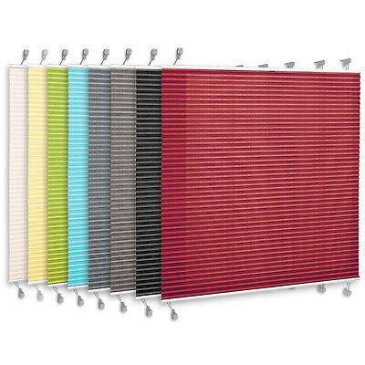 Klemmfix PLISSEE für Fenster & Türe Faltrollo Rollo Sichtschutz mit Klemmträger 2