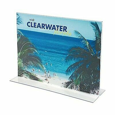 """1InTheOffice Acrylic Stand-Up Horizontal Sign Holder 8.5x11""""6 Pack"""" 2"""
