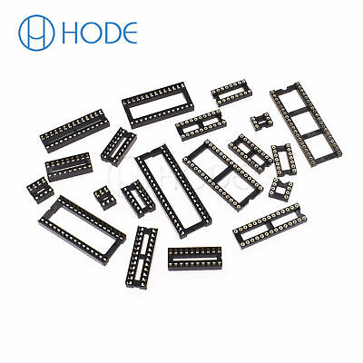 IC Sockets DIP-6P 40P Pin Round Adaptor Solder Gold Plated Narrow/WIDE UK 2