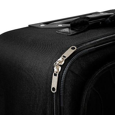 Set de 4 valises de voyage textile trolley bagage avec 2 roues noir 8
