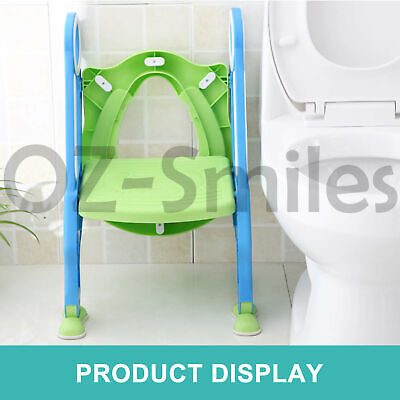 Kids Toilet Seat Ladder Baby Toddler Potty Training Step Trainer Non Slip Safety 5