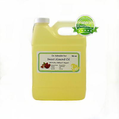 Sweet Almond Oil Cold Pressed Pure Organic *free S&h* 5