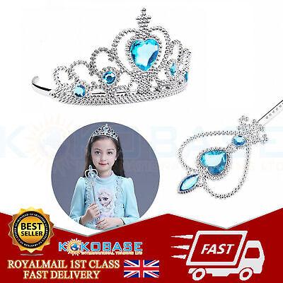 Vicloon Ice Princess Elsa Accessories Set  Tiara Crown and Magic Wand Girls Gift 3