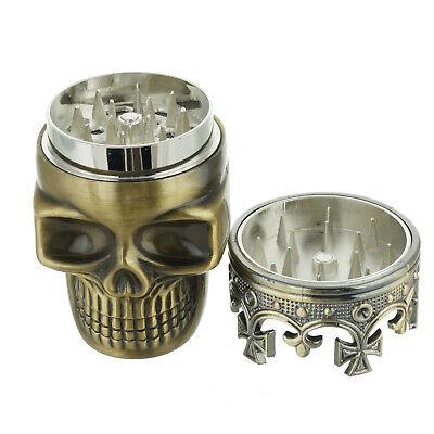 Tobacco Herb Spice Grinder Bronze Punk King Skeleton Skull Smoke Crusher Tool US 4