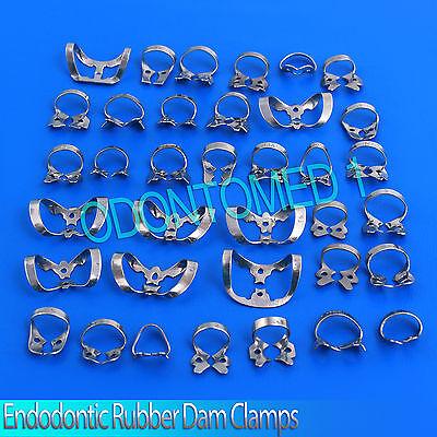 99 Pcs. Endodontic Rubber Dam Clamps Dental Orthodontic Instrument 2