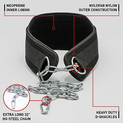 RDX Dipping Belt Body Building Weight Lifting Dip Chain Exercise Gym Training 6D