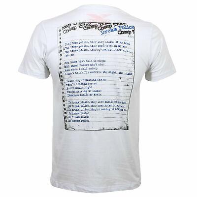 Authentic CHEAP TRICK Dream Police Slim Fit T-Shirt White S M L XL 2XL NEW