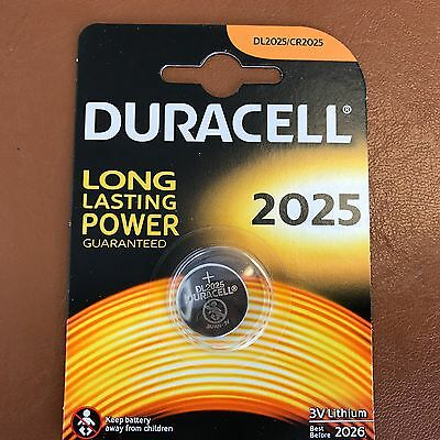 New Duracell CR2025 3V Lithium Coin Cell Battery 2025 DL/BR2025 Longest Expiry 2