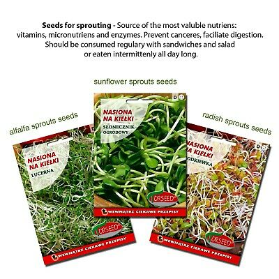 SPROUTER + Healthy Starter Organic Seeds SET (GMO free)  - SPROUT (Easy to Use) 2