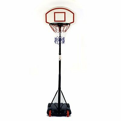 Free Standing Basketball Set Hoop Net Backboard Carry Case 166cm Childrens Kid