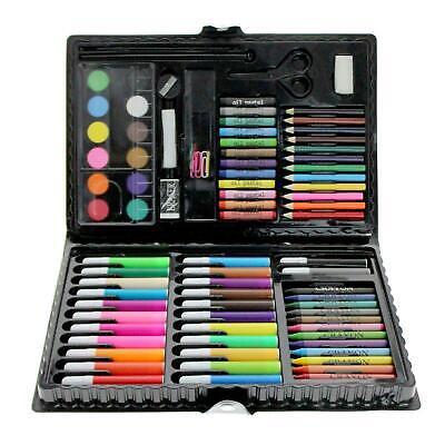 90Pcs CHILDREN'S Art Set Crayons Paints Pens Pencils For Kids In Colour Case 2