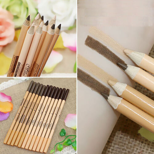 12 in 1 Double Head Eyeliner Eyebrow Pencil SET Make up Tool Concealer Function 3