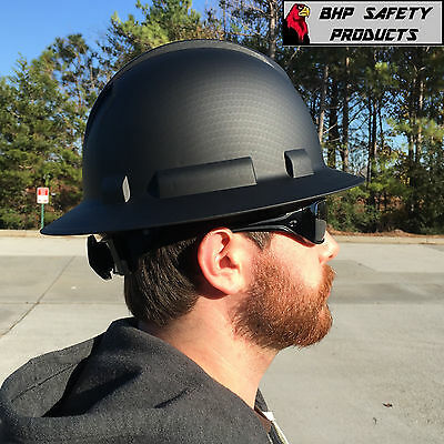 Pyramex Ridgeline Hard Hat Graphite Pattern Black Gray Full Brim Safety Hp54117 7