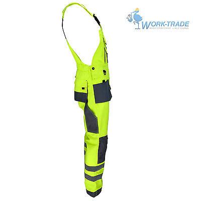Arbeitshose Latzhose Arbeitslatzhose Berufskleidung Gelb Grau Gr. 46-62 NEU TOP