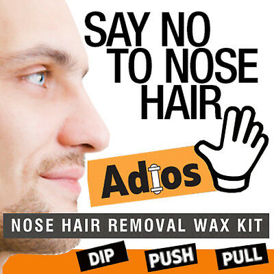 Groomarang Adios Nez Oreille Épilation Cire Kit Indolore & Facile Homme Nasal 2