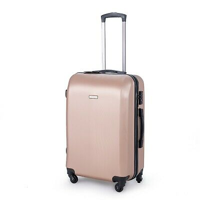 24 inch 65L Medium size Luggage Trolley Travel Bag 4 Wheels TSA lock hard case 3
