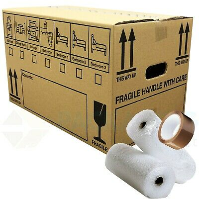 NEW X LARGE DOUBLE WALL Cardboard House Moving Boxes -Removal Packing box BUNDLE 3
