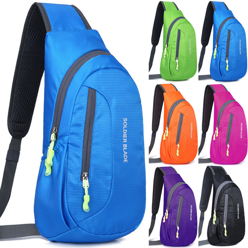 JIAYONG Chest Bag 2019 Mens Sling Bag Leather Chest Bag Crossbody Shoulder Business Backpack Outdoor Daypack for Travel Hiking Sport Color : Dark Brown