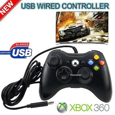 Wired USB Game Controller Joystick for Microsoft Xbox 360 / PC Windows XP 7 8 10 4