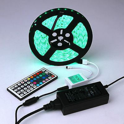 1-30M 5050 3528 RGB LED Strip Light Flexible Lighting 12V IR Controller Adapter 3